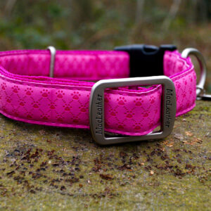 Macleather halsband roze